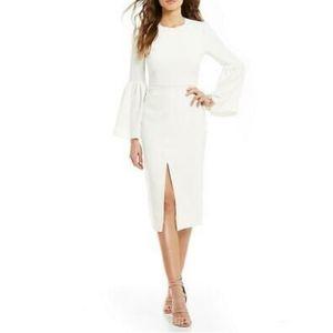 Jill Jill Stuart Bell Sleeve Cocktail Dress White